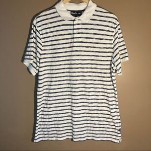 Barbour striped navy white polo shirt